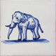 Blue and white Zoo Animals Collection - Portuguese traditional decorative tiles azulejos