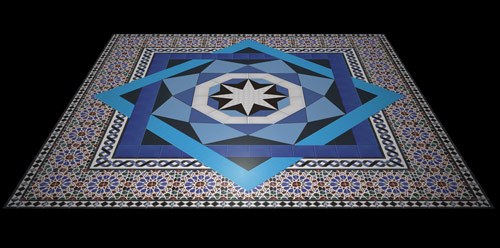 Bicesse Tiles - Moorish pond tiles - Composition by Nazo Kureshy and Luis Leal