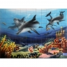 PA003 Airbrushed Sea Dolphins fish Tiles Panel