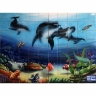 PA004 Airbrushed Sea Dolphins fish Tiles Panel