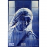 PA006 Airbrushed Mother Teresa Calcutta Tiles Panel