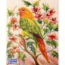 PA011 Painted Equatorial Birds Tiles Panel