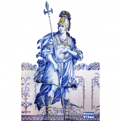 PA0116 Baroque Invitation Figures Tiles Mural