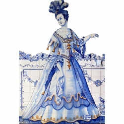 PA0118 Baroque Invitation Figures Tiles Mural