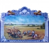 PA015 Harvesting fields Cutout Tiles Mural