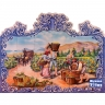 PA016 Grapes Picking Wine Cutout Tiles Mural