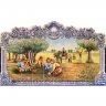 PA020 Pcking Olives Olive Oil Production Tiles Mural