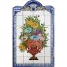 PA051 Flowers Vase Cutout Tiles Panel