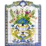 PA052 Flowers Vase Cutout Tiles Panel