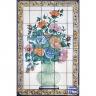 PA057 Flowers Vase Tiles Panel