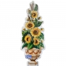 PA062 Flowers Vase Cutout Tiles Panel