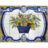 PA063 Flowers Vase Tiles Panel