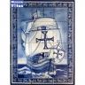 PA069 Caravel Vessel Boat Tiles Mural