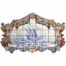 PA072 Caravel Vessel Boat Cutout Tiles Mural