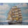 PA075 Caravel Vessel Boat Tiles Mural