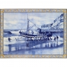 PA076 Fishing Boat Ship Tiles Mural
