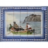PA077 Fishing Boat Ship Tiles Mural