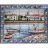 PA078 Fishing Boat Ship Tiles Mural