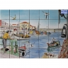 PA079 Fishing Boat Ship Tiles Mural