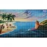 PA083 Marmaid beach Airbrushed Tiles Mural