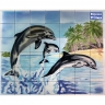 PA085 Dolphins Airbrushed Tiles Mural