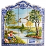 PA096 River Fisherman Cutout Tiles Mural
