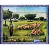 PA097 Shepherd Pigs Tiles Mural