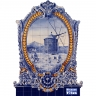 PA0126 Windmill Baroque Frame Cutout Tiles Mural