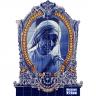 PA0128 Madre Teresa Baroque Frame Cutout Tiles Mural