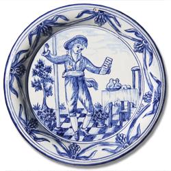 7103 Portuguese traditional majolica plate
