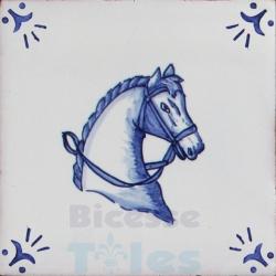 RDC001 Blue White Riding Horses