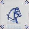 RDC001 Blue White Riding Horses