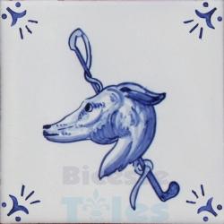 RDC006 Blue White Riding Horses