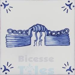 RDC014 Blue White Riding Horses