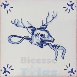 RDC017 Blue White Riding Horses