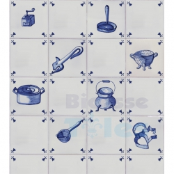 TC215 Blue White Kitchenware Composition