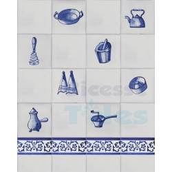 TC216 Blue White Kitchenware Composition