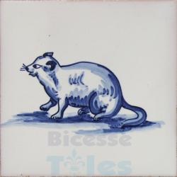 ZOO021 Blue White Zoo Animals